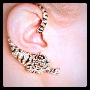 Roberto Cavalli Swarovski crystal Tiger earrings